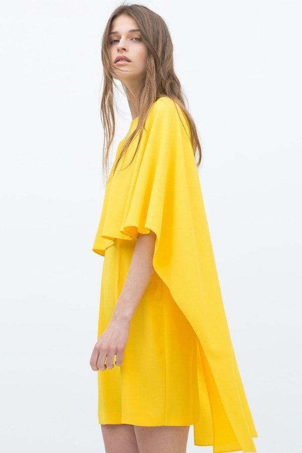5dfa5e85f0a Robe jaune de Zara