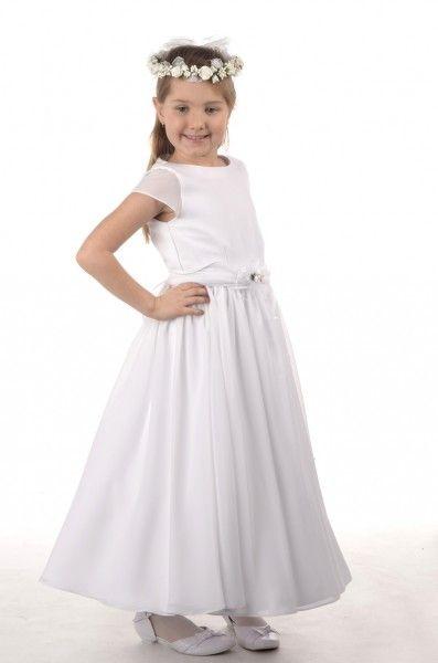 09282108d3 Venus Sukienka komunijna Goździk Sukienka komunijna Goździk - Zwiewna  sukienka o klasycznym kroju pasuje dla każdej figury - Jej ciepły biały  kolor decyduje ...