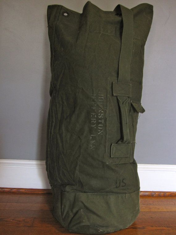 e5fbb6e0a Vintage Military Army DUFFLE bag by LuckySevenVintage on Etsy, $30.00