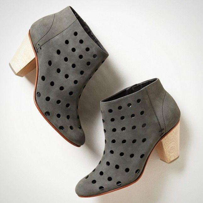 These perforated booties are a wardrobe essential