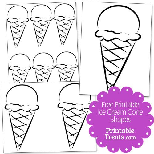 image relating to Printable Ice Cream Cone called Free of charge Printable Ice Product Cone Designs versus PrintableTreats