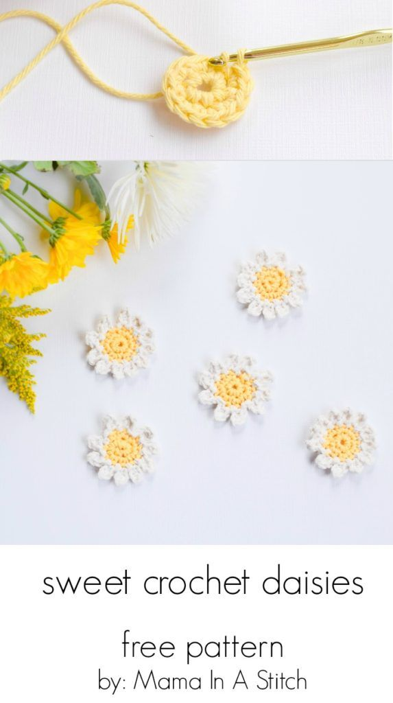 Sweet Daisies – Free Flower Crochet Pattern   Pinterest   Tejido ...