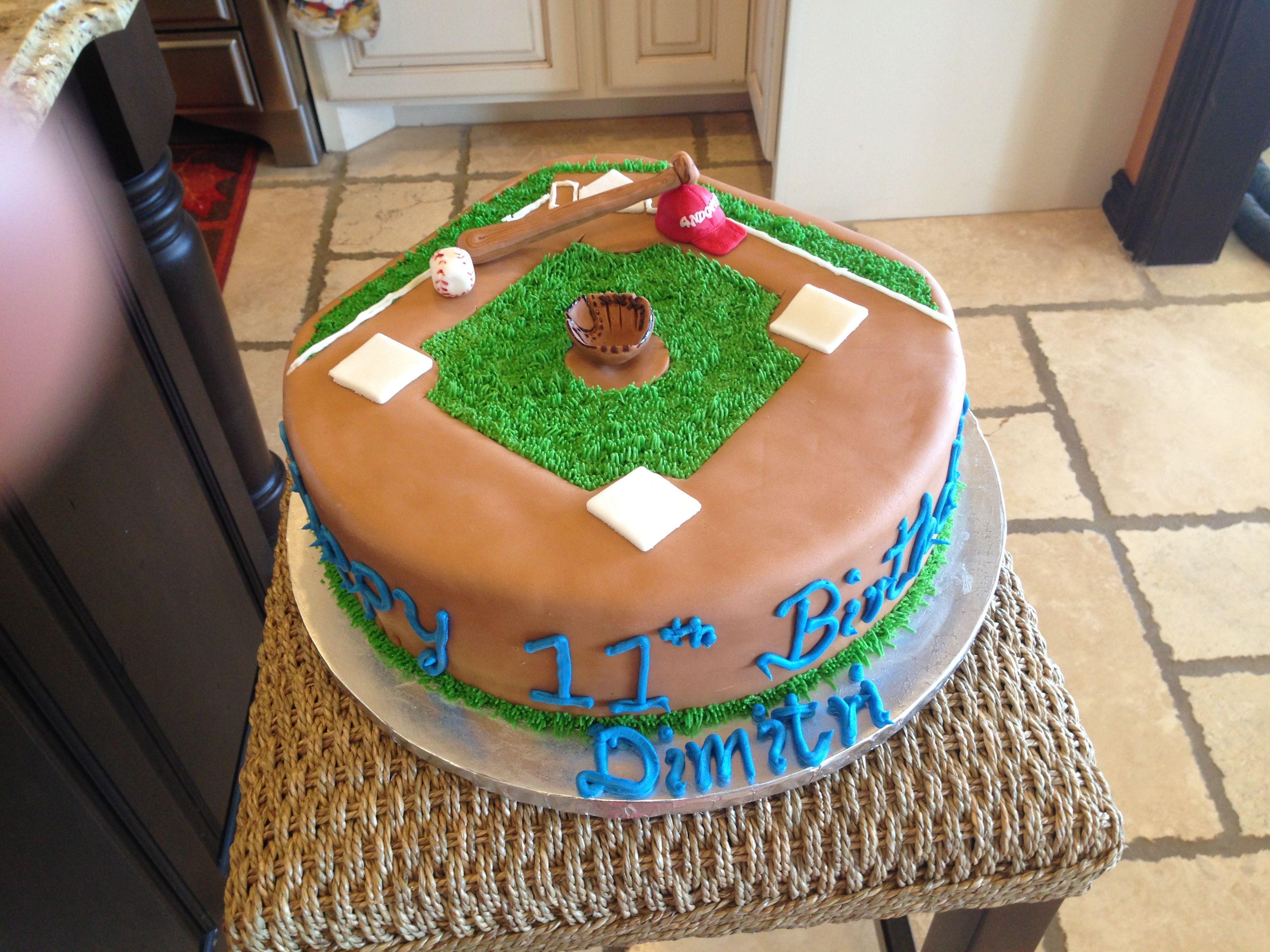 Baseball Field Cake Cake Baseball Field Cake Desserts