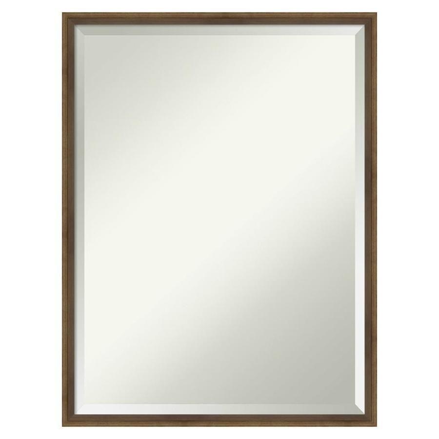 Amanti Art Lucie Light Bronze Framed Wall Mirror In 2020 Vanity