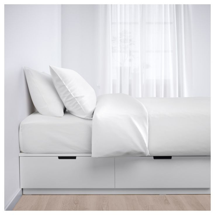 Nordli Bed Frame With Storage White 90 X 200 Cm Ikea In 2020 Bed Frame With Storage Single Beds With Storage Bed With Drawers Single