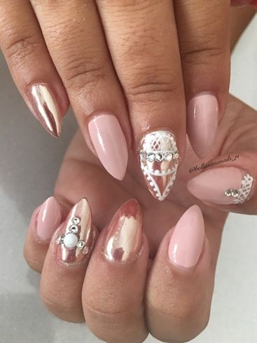 Nude+And+Chrome++by+Bellissimanails+-+Nail+Art+Gallery+ ...