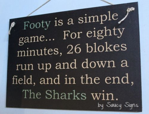 Simple-Game-Cronulla-Sutherland-Sharks-Wooden-Bar-Pub-Shed-Rugby-League-Sign
