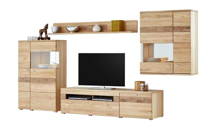 Woodford teilmassive Wohnwand Miro | Höffner, Möbel und Wohnzimmer
