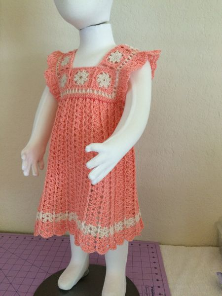 9cc6958f602a Crochet dress for 2 year old