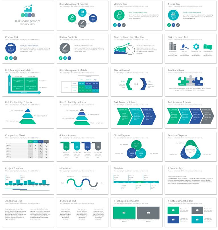Risk Management Powerpoint Template  Risk Management Management
