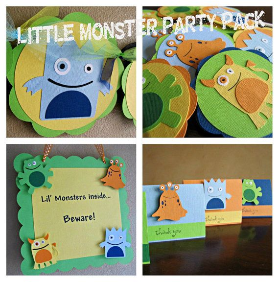 Little Monster Birthday Party Package Monster Party Package