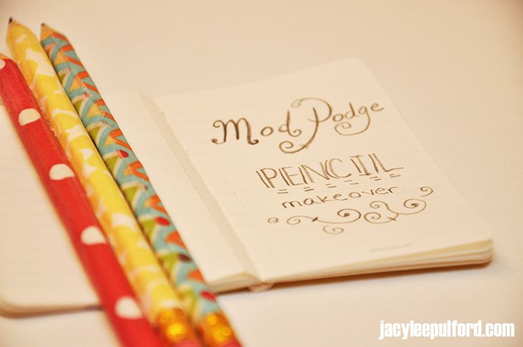 Back-To-School: Mod Podge Pencil Makeover {DIY}