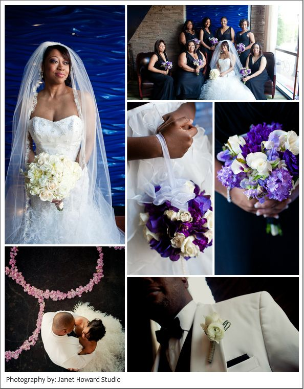 Veronica + Jonathan.  Amazing colors of deep #purplebouquets mixed with #lilac.