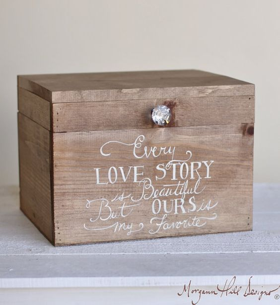 18 DIY Wedding Card Boxes For Your Guests To Slip Congrats Into