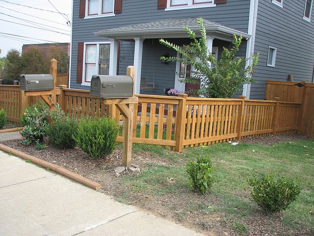 4ft Picket Style Fence Front Yard Fence Ideas Curb Appeal Backyard Fences Wood Fence Design