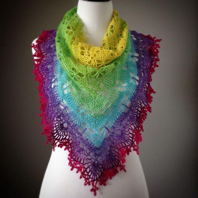 Ravelry: Mariposa Stitch patrón mantón de rezo por njSharon Y ...