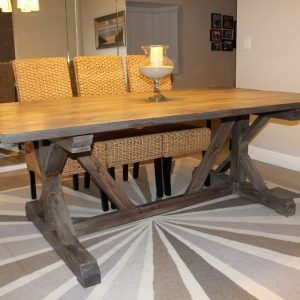 Room Farmhouse Style Dining Table Plans