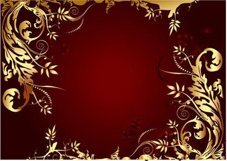 Download Elegant Gold Colored Decorative Frame Vector In Eps Format Corner Decorative Frame Elegant D Frame Decor Red Christmas Background Dark Red Background Red black white gold wallpaper