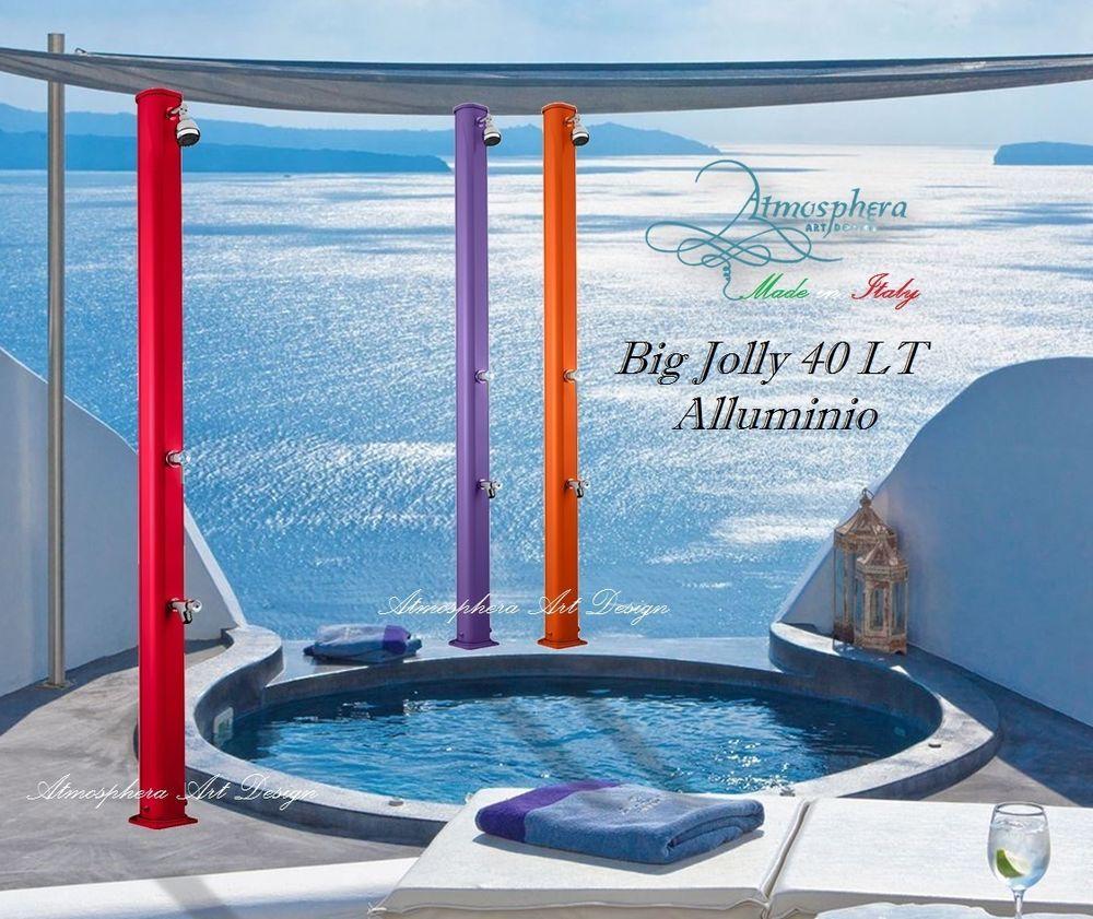 Doccia solare BIG JOLLY 40 LT in Alluminio da giardino