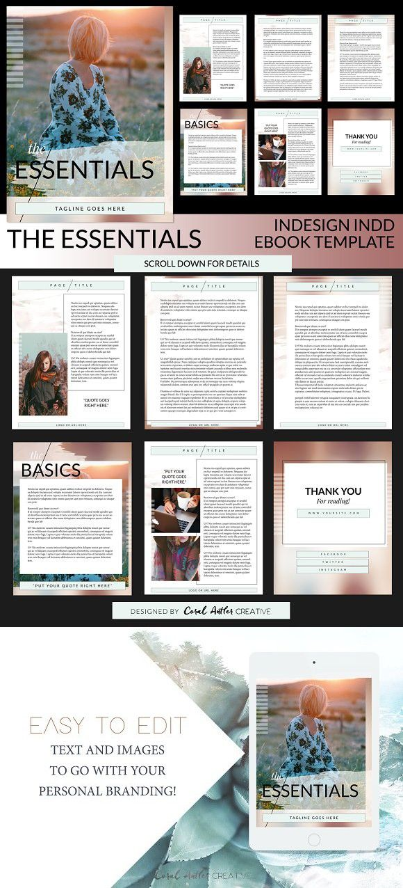 The Essentials INDD Ebook Template. Creative Business Card Templates ...