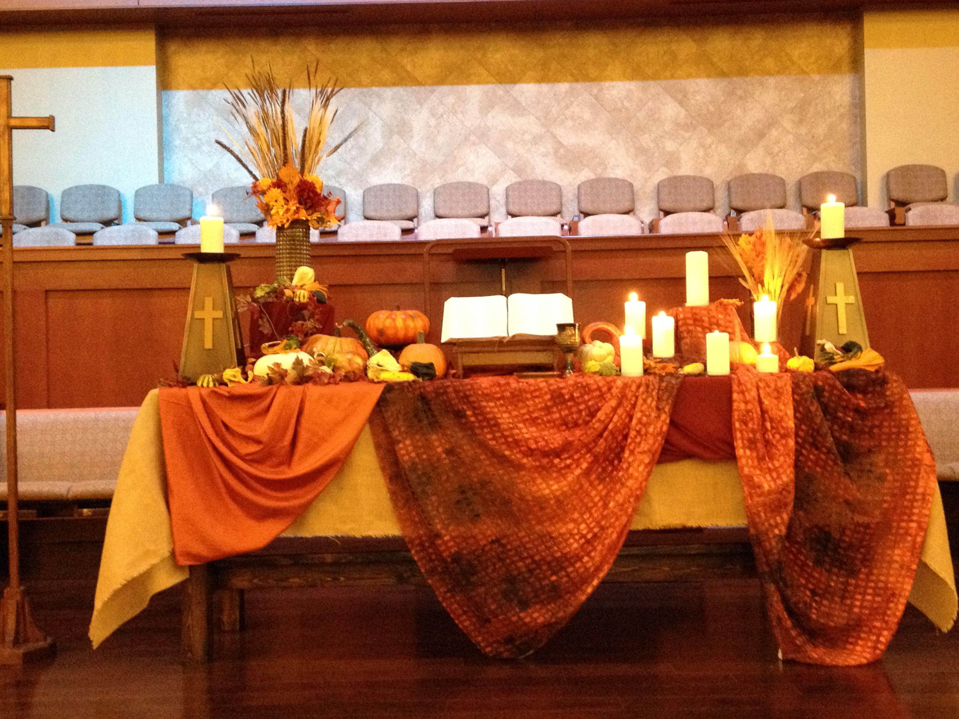 All Saints Day Sanctuary Altar 2014. Grace Avenue UMC, Frisco, TX.