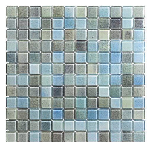 Found It At Wayfair Hi Fi 1 X 1 Glass Mosaic Tile In Powdered Blue Sea Green Beige Mosaic Glass Glass Mosaic Tiles Mosaic Tiles