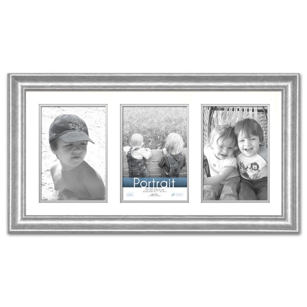 Timeless Frames Lauren 3 Opening 20 In X 10 In Silver Matted Picture Frame Photo Picture Frames Frames On Wall Picture Frames