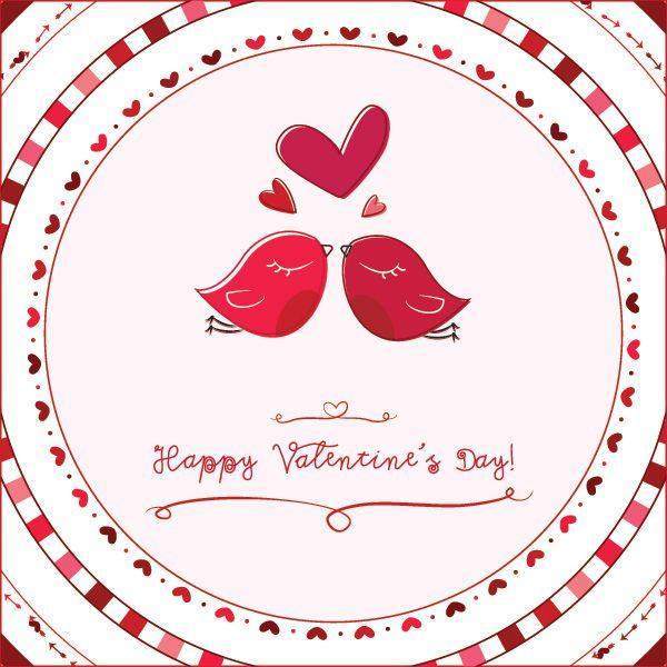 Valentine Love Birds Vector Graphic Casamento Pinterest – Bird Valentine Card