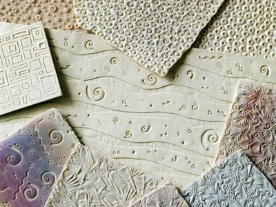 Texture plates made with polymer clay...use for working with clay and for drawing projects.