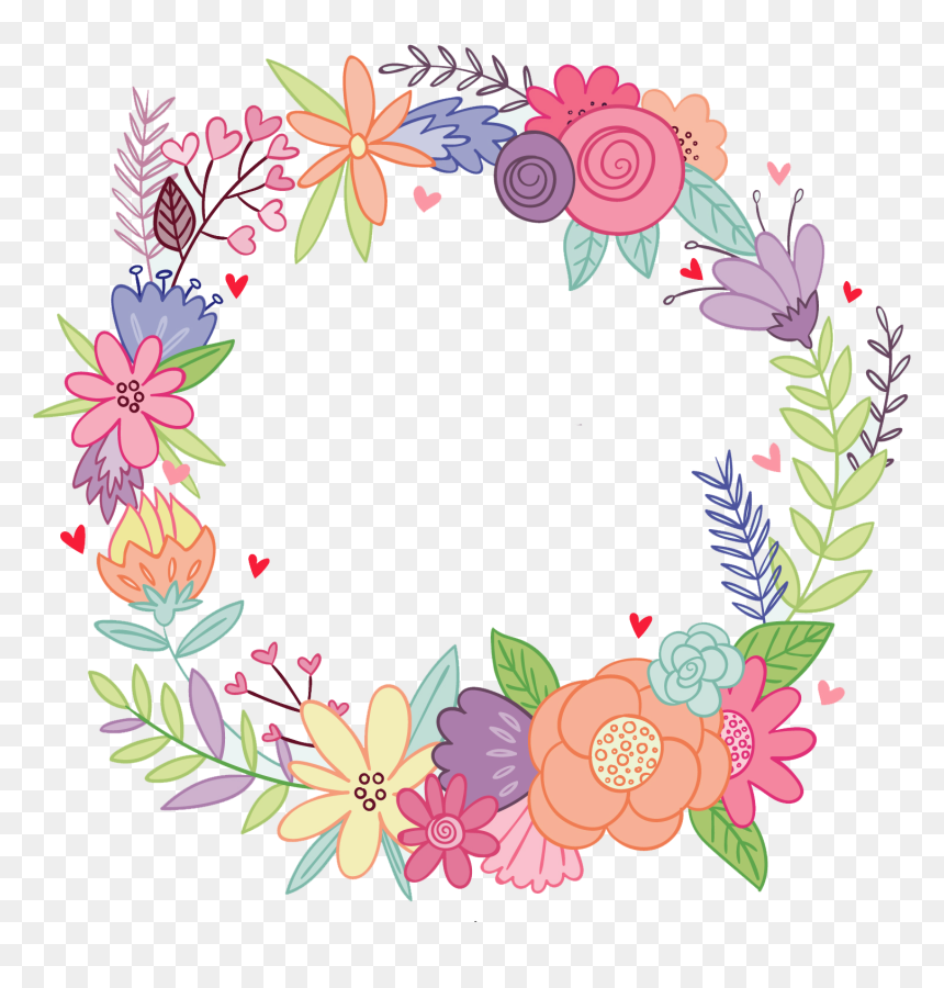 Flower Crown Clipart Png Transparent Png Is Pure And Creative Png Image Uploaded By Designer To Search More F Floral Vector Png Flower Frame Png Flower Crown