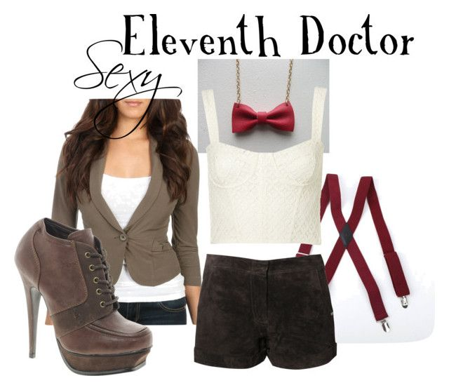 """Sexy Eleventh Doctor"" by companionclothes ❤ liked on Polyvore featuring Wet Seal, Topshop, Red Or Dead, Timeless and doctor who"