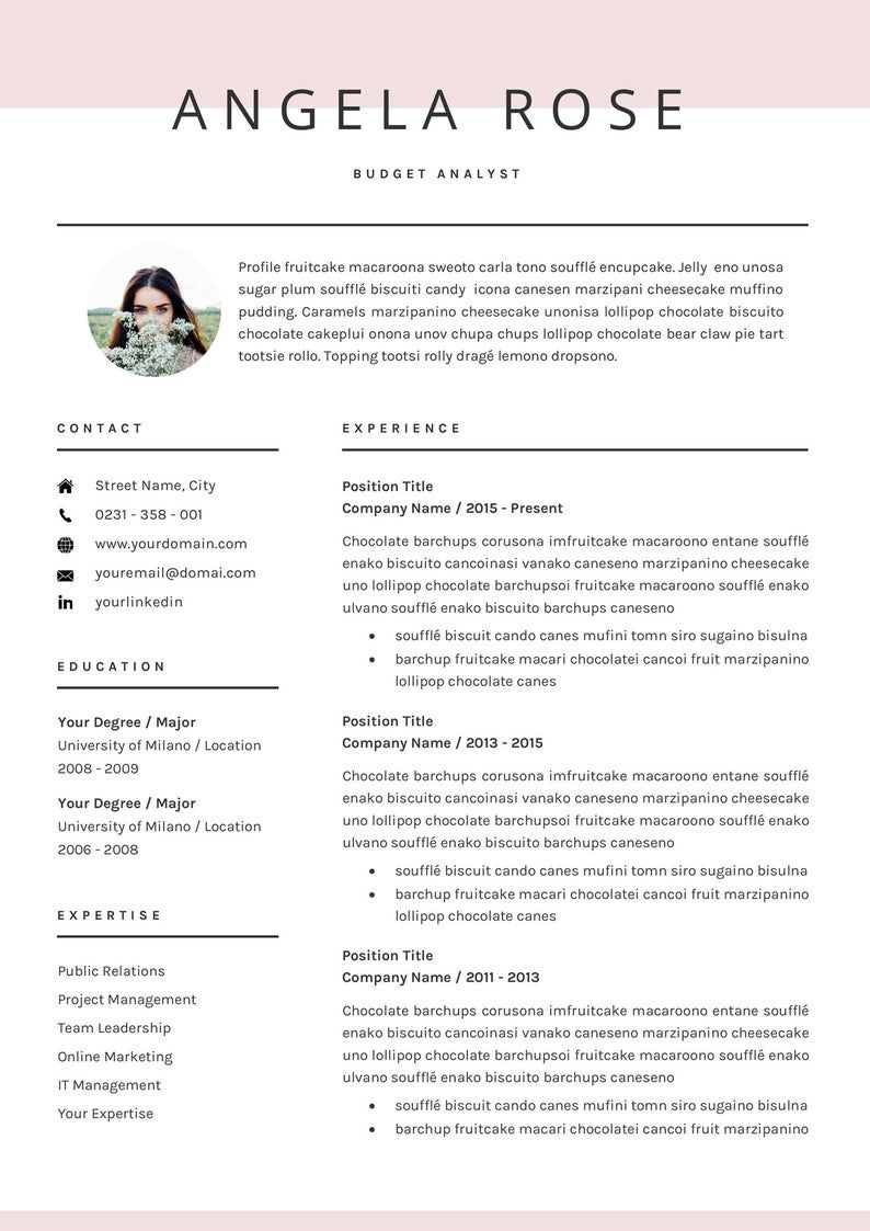 Resume Template Professional Cv Template For Word Us Etsy Resume Template Professional Cv Template Professional Resume Template