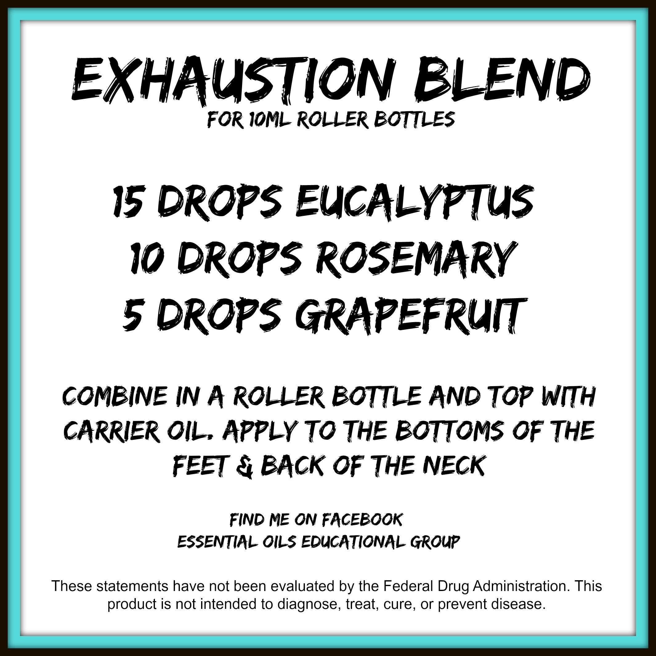 Exhaustion Blend Doterra A Great Blend To Help Support