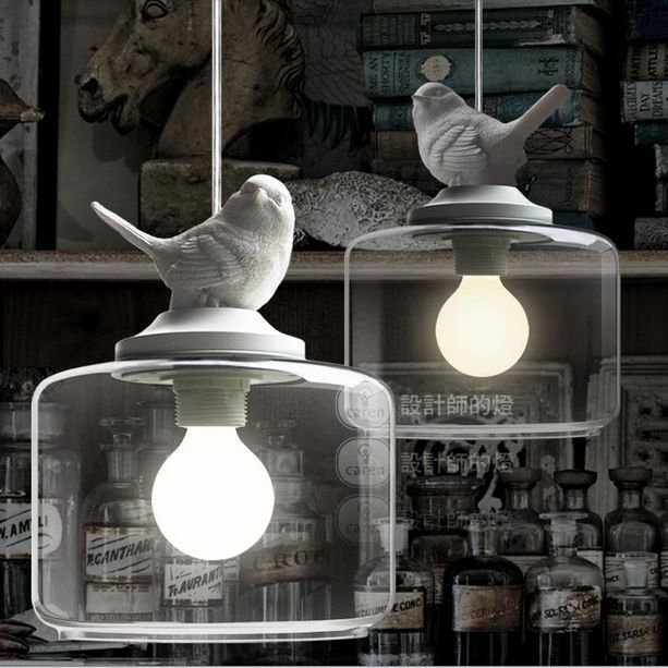 Ceiling Lights & Fans Romantic Contemporary And Contracted Creative Personality Retro Art Glass Chandelier Cafe Restaurant Study Lamps Act The Role Of Milan Pendant Lights