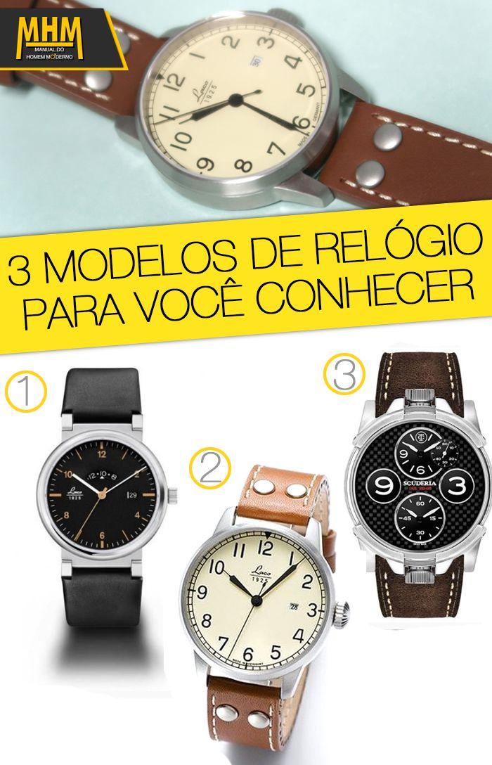 c015962472c 3 modelos de relógios masculinos para conhecer