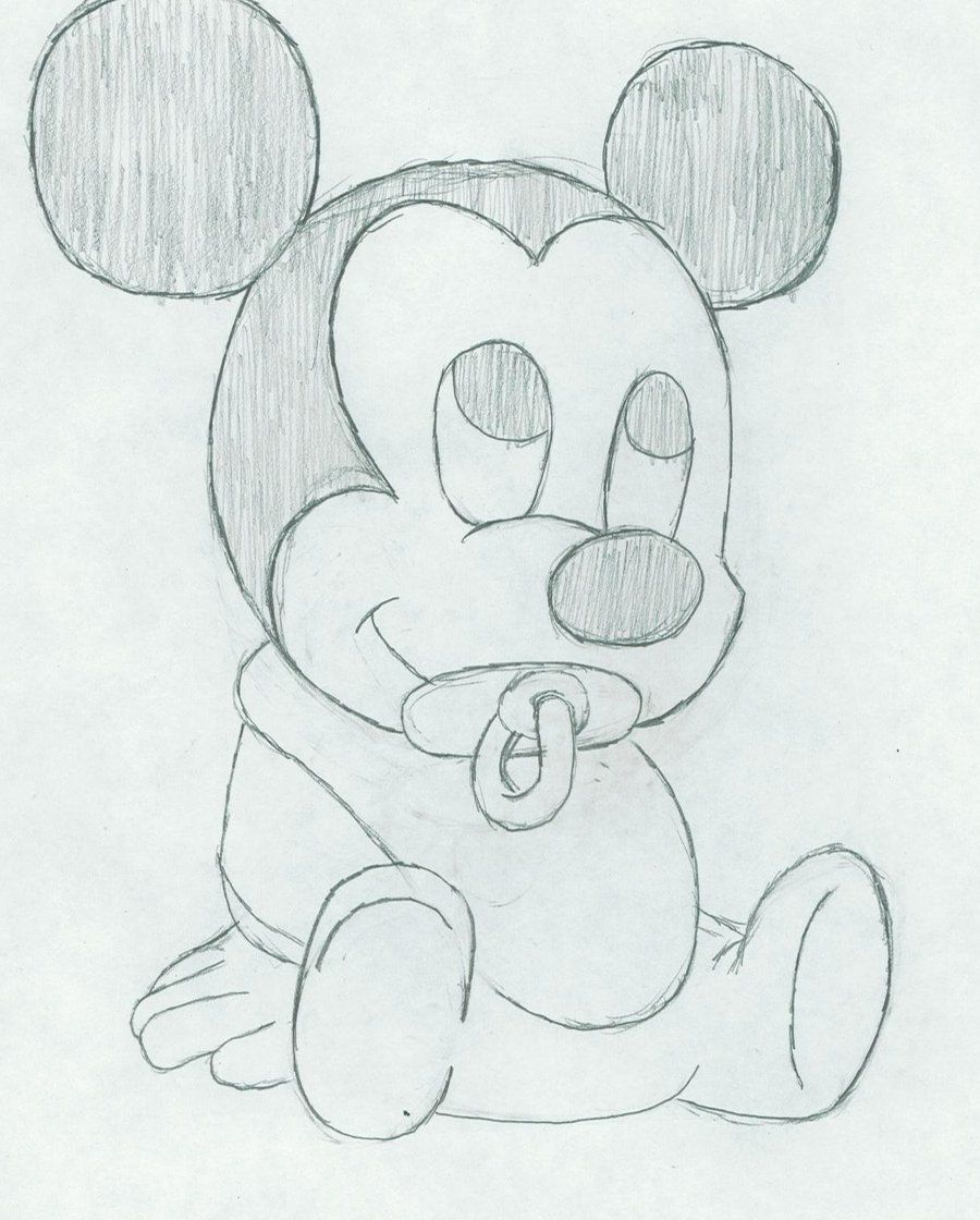 how to draw disney mickey mouse step by step