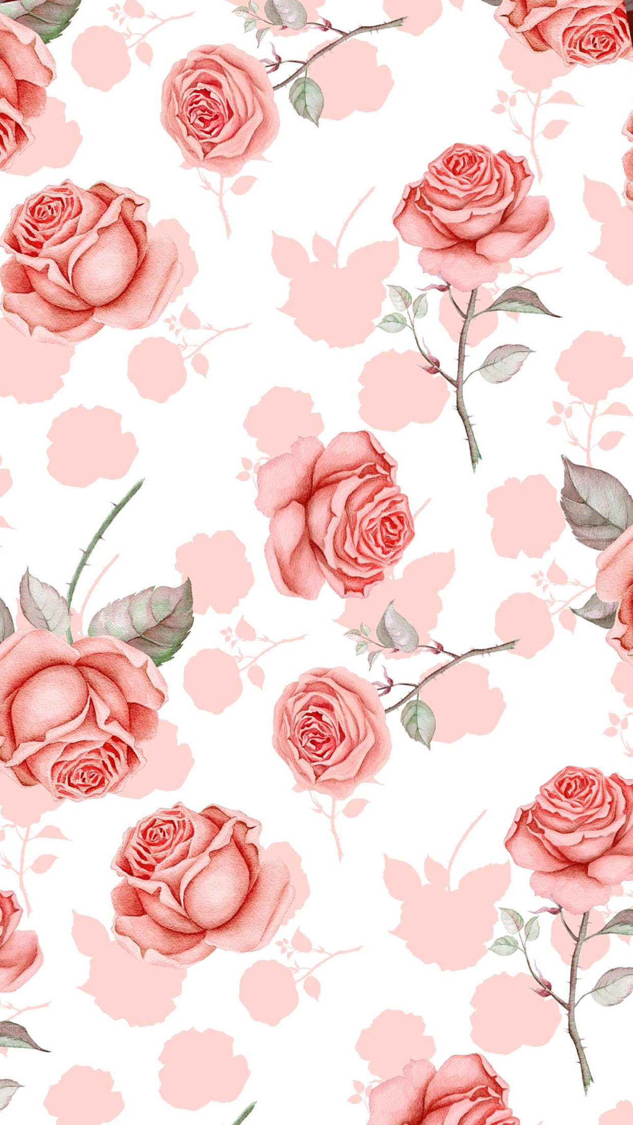 Wallpaper Iphone Iphone Wallpaper Pattern Pink Flowers