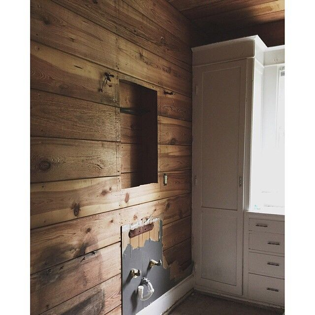We love the depth and character of the original shiplap ...