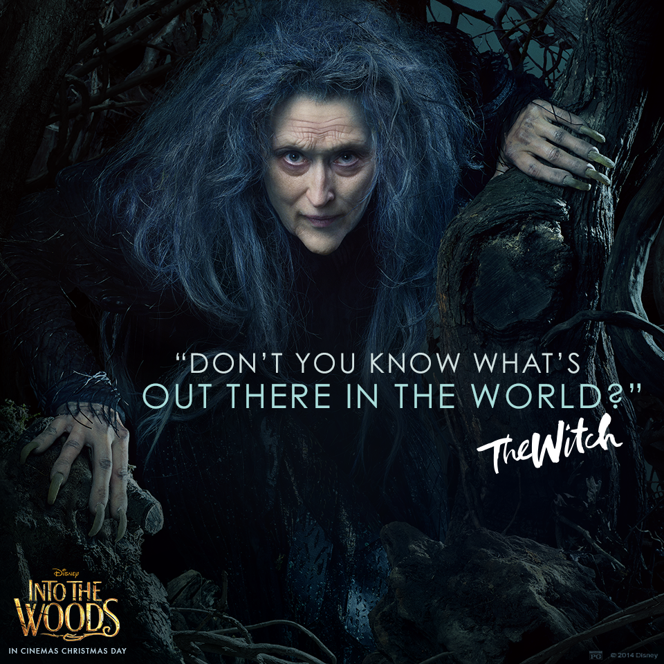 Meryl Streep is The Witch. Into the woods movie, Meryl