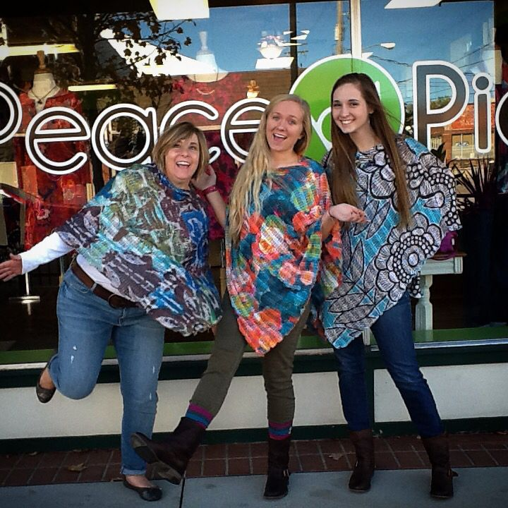 #BeforeAndAgain PONCHOS are here and man are they a hot item! They are absolutely perfect for gifts (Christmas is less than two months away!!) because they are all one size and look fabulous on all shapes! #PeaceByPieceCo #ShopSmallBelleville