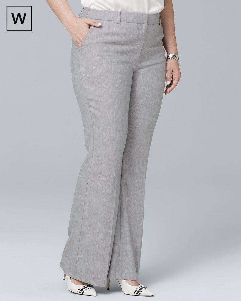 00e84a64c2c Women s Plus Linen-Blend Flare Pants by White House Black Market ...