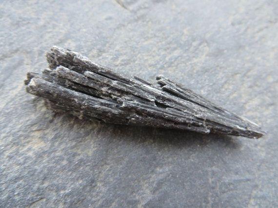 Natural Black Kyanite Crystal // Rough by SacredGemstoneStore