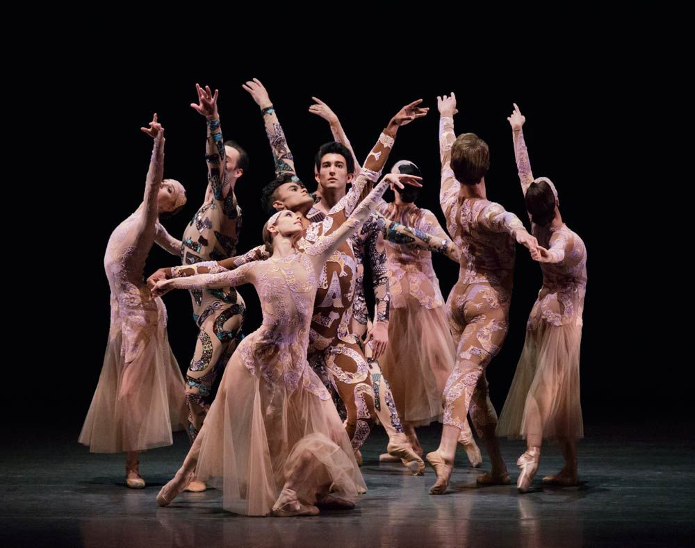 New York City Ballet In Justin Peck S Belles Lettres Costumes By Mary Katrantzou Stage Ballet Nycb Belleslettres City Ballet Dance Pictures Dance Forever