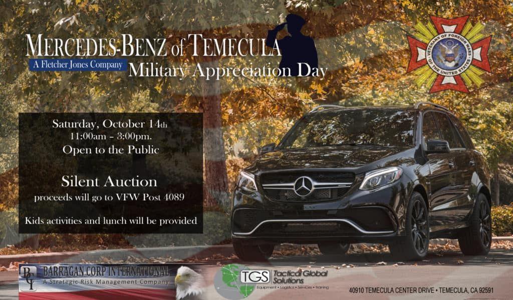 Mercedes Benz Of Temecula Hosts Military Appreciation Event Mercedes Benz Military Appreciation Temecula