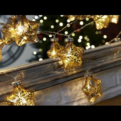 Christmas lights · buy 10pc gold star shape glass ball set the range
