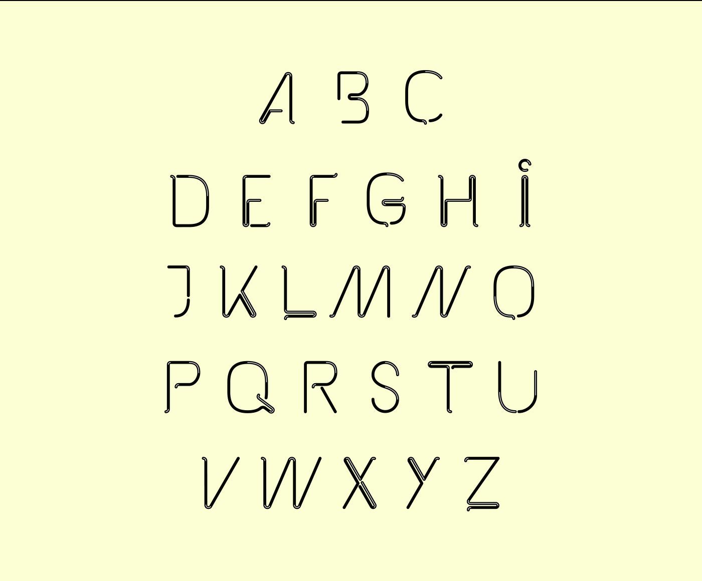 """I spent some rainy days to construct a new font, called """"The Kabel Font"""". Hope you like it."""