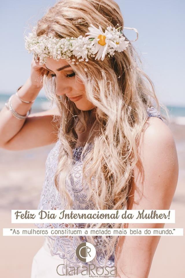 A Clara Rosa deseja à todas as mulheres um Feliz Dia Internacional das Mulheres! Que todas tenham um dia repleto de paz, amor, harmonia e fé. Parabéns às mulheres que compartilham seu brilho com o mundo todo!