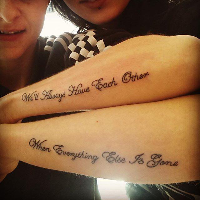 siblingtattoo jakshepz iloveyou tattoos pinterest tattoo ideen geschwister tattoos und. Black Bedroom Furniture Sets. Home Design Ideas