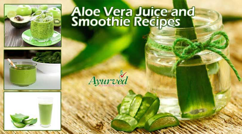 Healthy aloe vera juice and smoothies recipes to boost