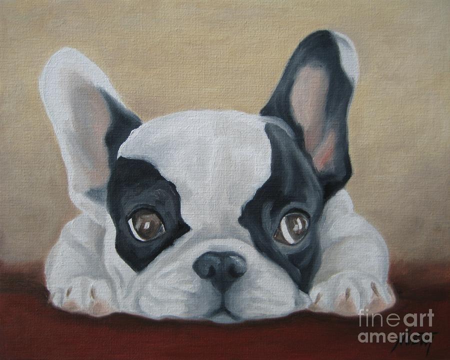 French Bulldog Franzosische Bulldogge Hunde Gemalde Und Bulldogge